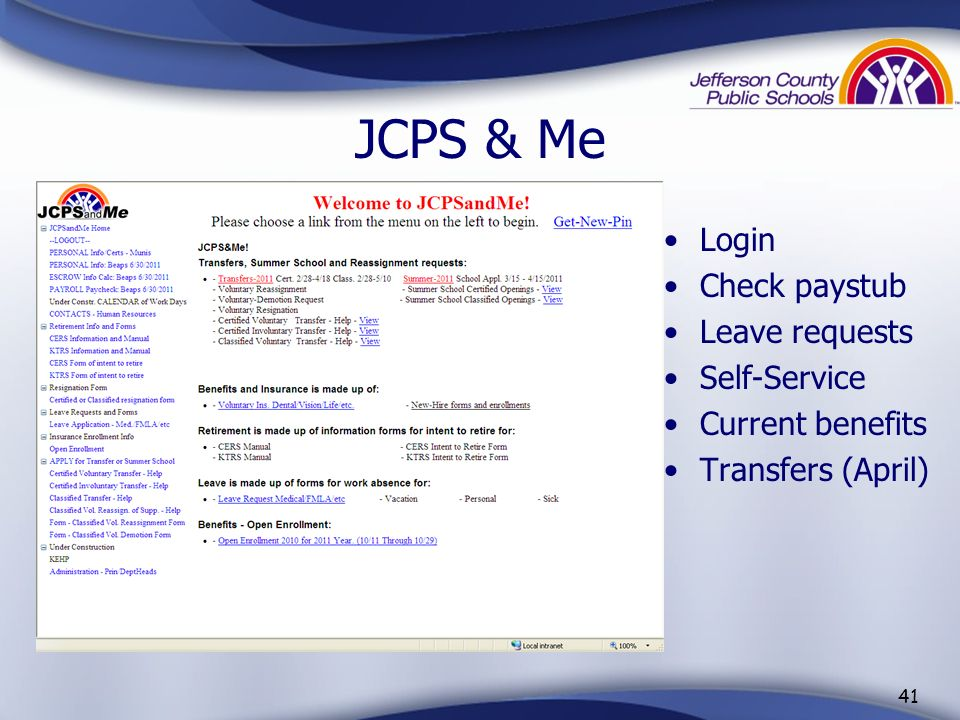 Getting to JCPS & Me 40