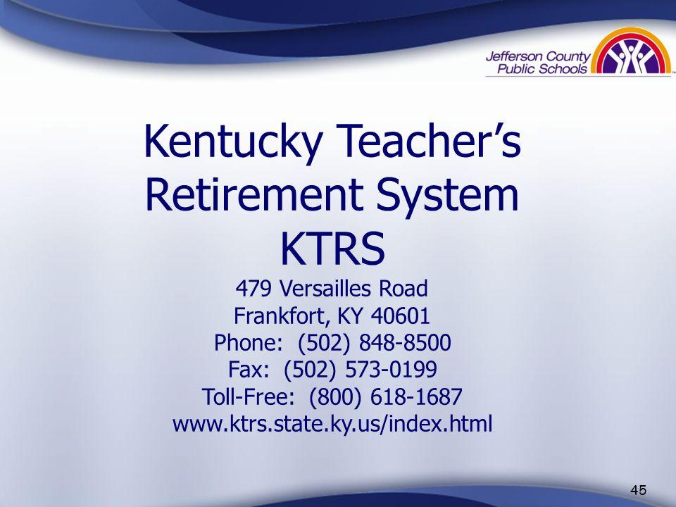 44 First Year Teachers And the Kentucky Teacher Internship Program (KTIP) Contact: Dr. Geneva Price VanHoose Education Center 3332 Newburg Road Louisv