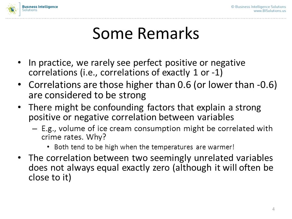 5 Correlation does not imply causation.