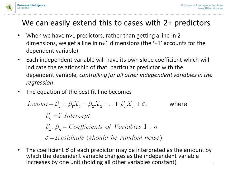 10 An Example with 2 Predictors: Income as a function of House Value and Crime