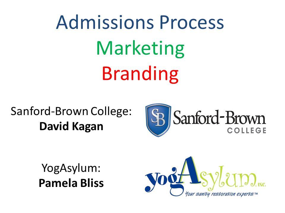 Admissions Process Marketing Branding Sanford-Brown College: David Kagan YogAsylum: Pamela Bliss