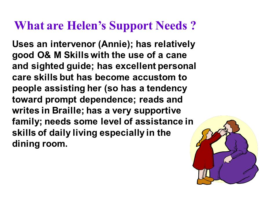 What are Helens Support Needs .