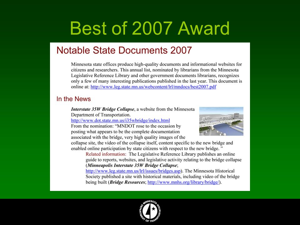 Best of 2007 Award