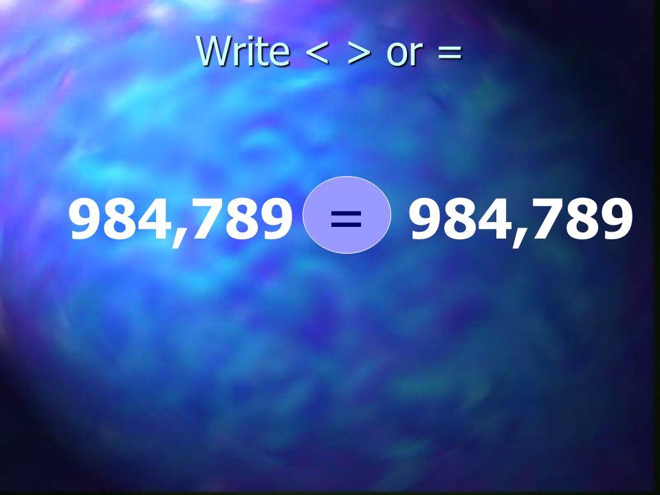 Write or = 984,789 =
