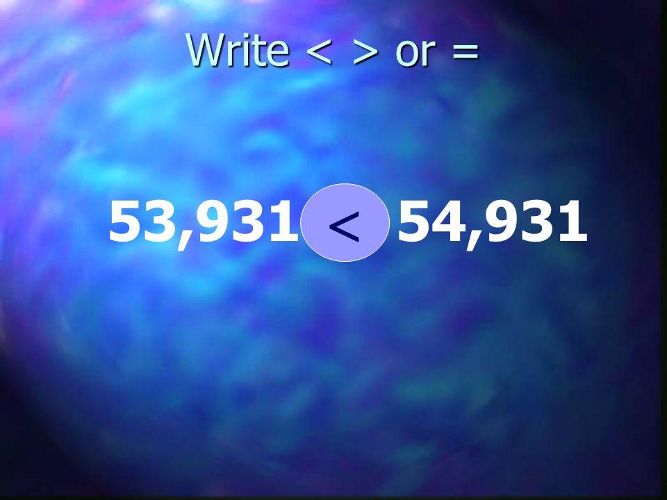 Write or = 53,93154,931 <