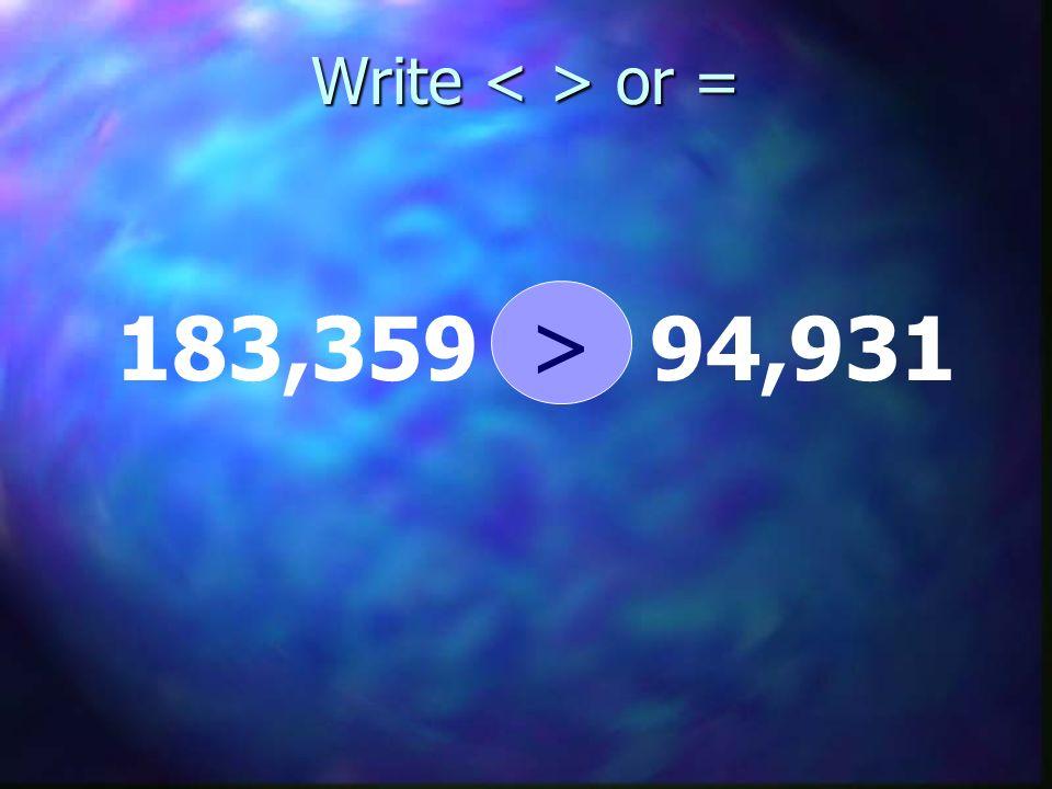 Write or = 183,359 94,931 >