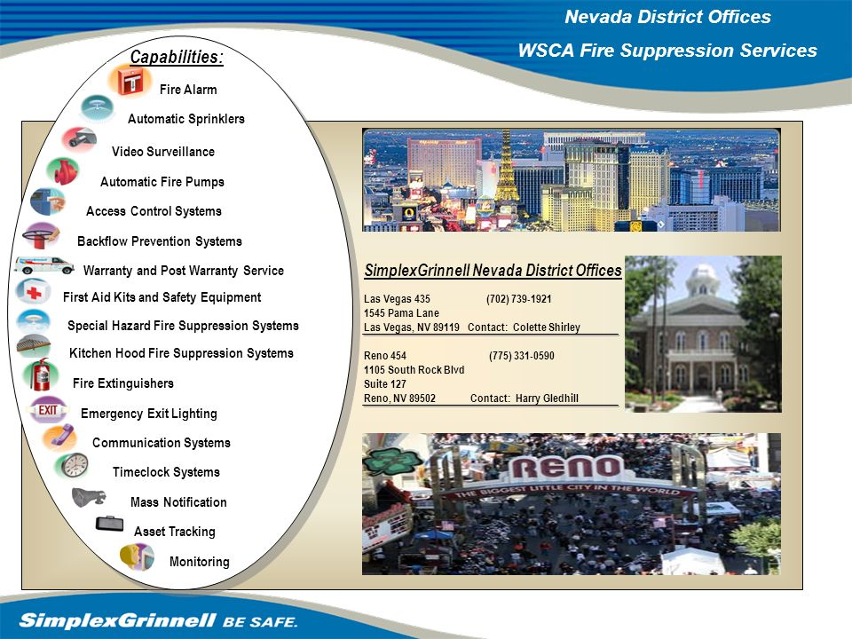2007 Western Operations Roundup 2007 Western Operations Nevada District Offices WSCA Fire Suppression Services Access Control Systems Monitoring Autom