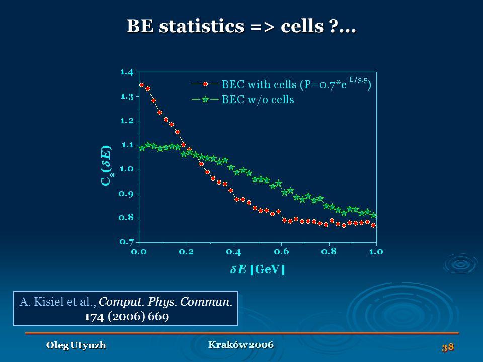 Kraków 2006 Oleg Utyuzh 38 BE statistics => cells ...