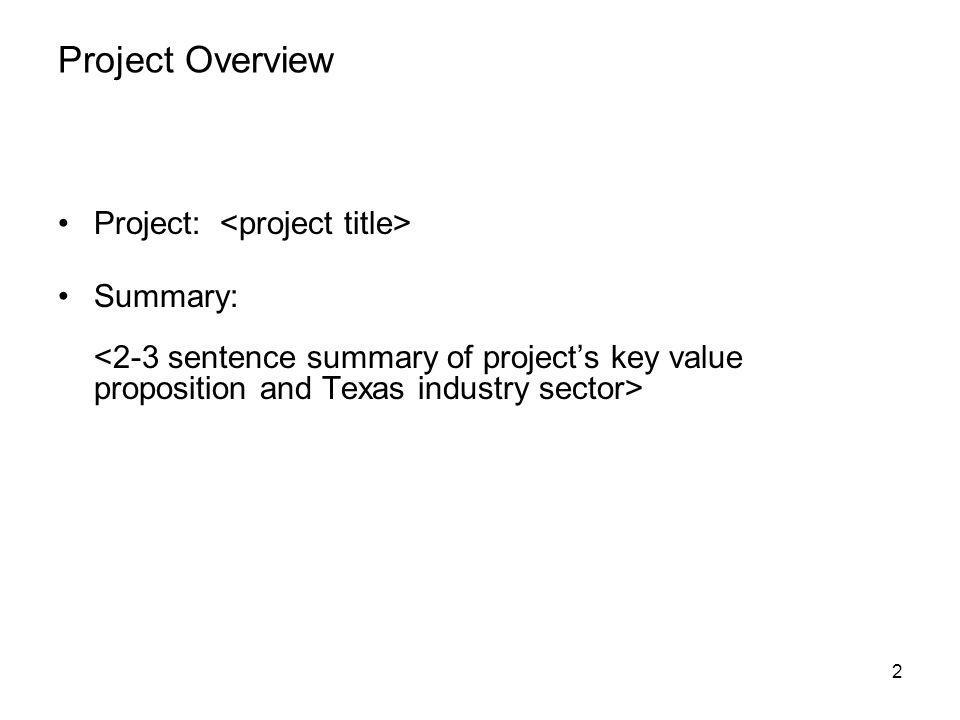 Project Overview Project: Summary: 2
