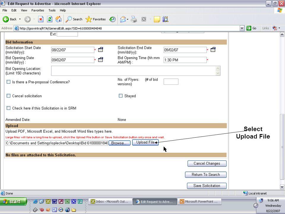 Select Upload File