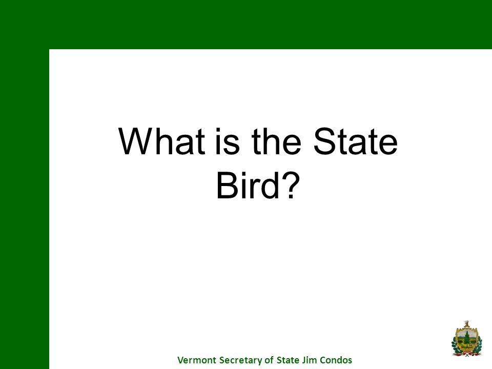What is the State Bird?