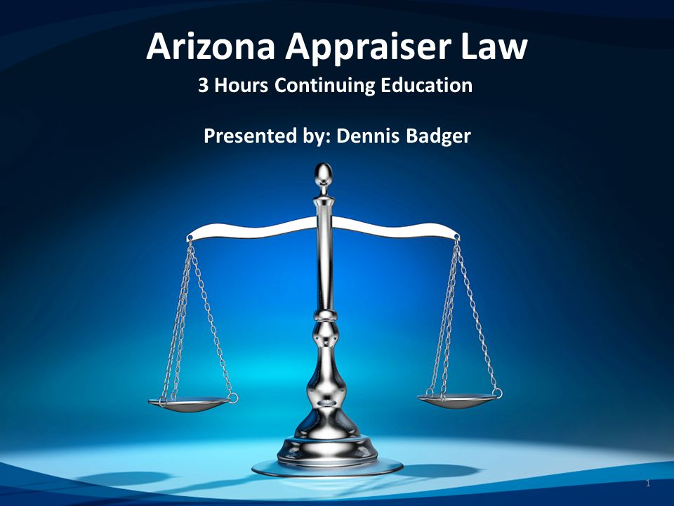 2 Before we begin… Thank-you Arizona Board of Appraisal – Board Members – Kevin R.