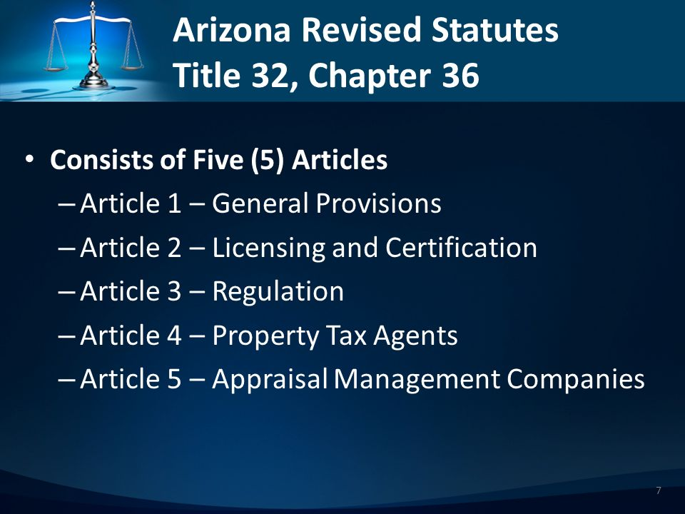 Article 1 – General Provisions Definitions Contd Property tax agent – Property tax agent does not include a person who is admitted to practice law in this state, an employee of the person owning, controlling or possessing the property or an employee of an entity designated pursuant to section 42-16001, if the employee is performing a secretarial, clerical or administrative support function.