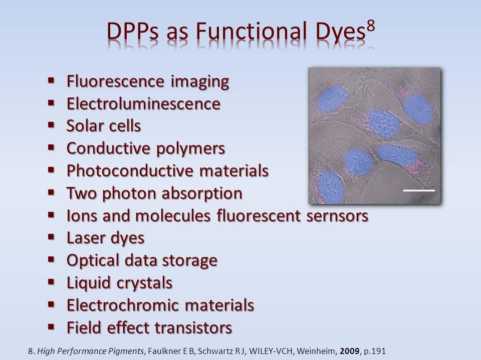 Fluorescence imaging Fluorescence imaging Electroluminescence Electroluminescence Solar cells Solar cells Conductive polymers Conductive polymers Phot