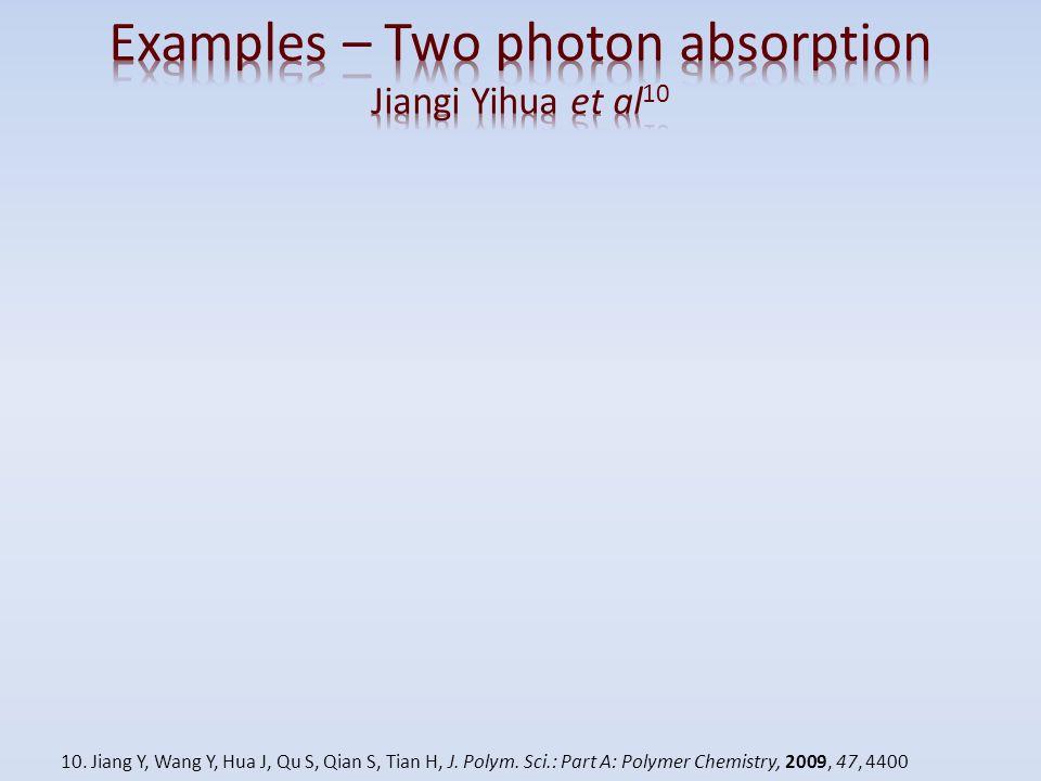 10. Jiang Y, Wang Y, Hua J, Qu S, Qian S, Tian H, J. Polym. Sci.: Part A: Polymer Chemistry, 2009, 47, 4400
