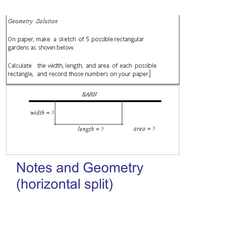 Notes and Geometry (horizontal split)
