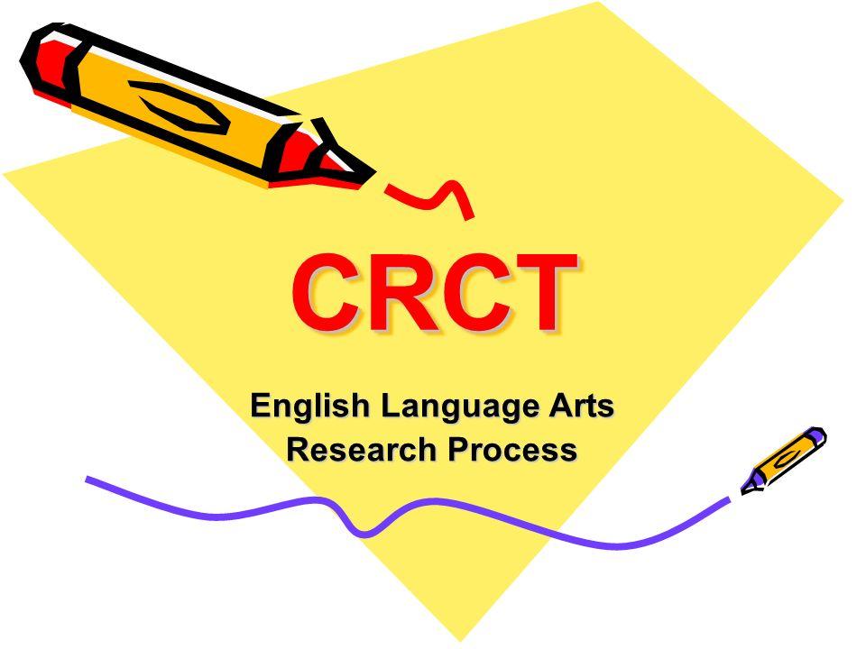 CRCTCRCT English Language Arts Research Process