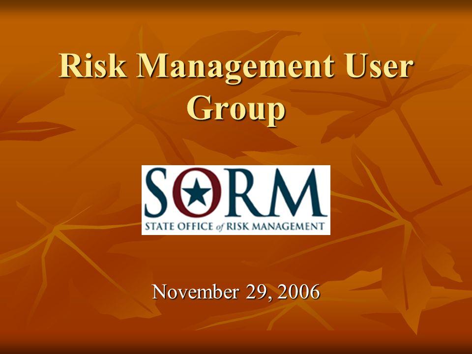 Risk Management User Group November 29, 2006