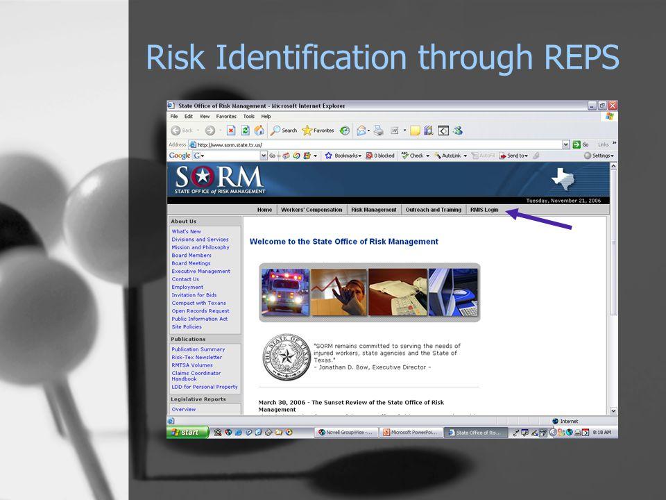 Risk Identification through REPS
