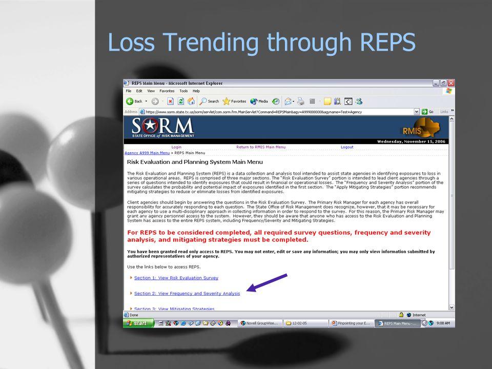 Loss Trending through REPS