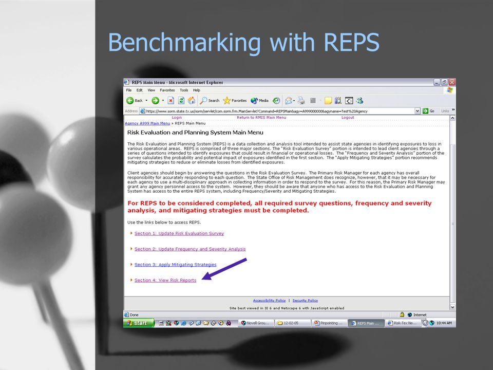 Benchmarking with REPS