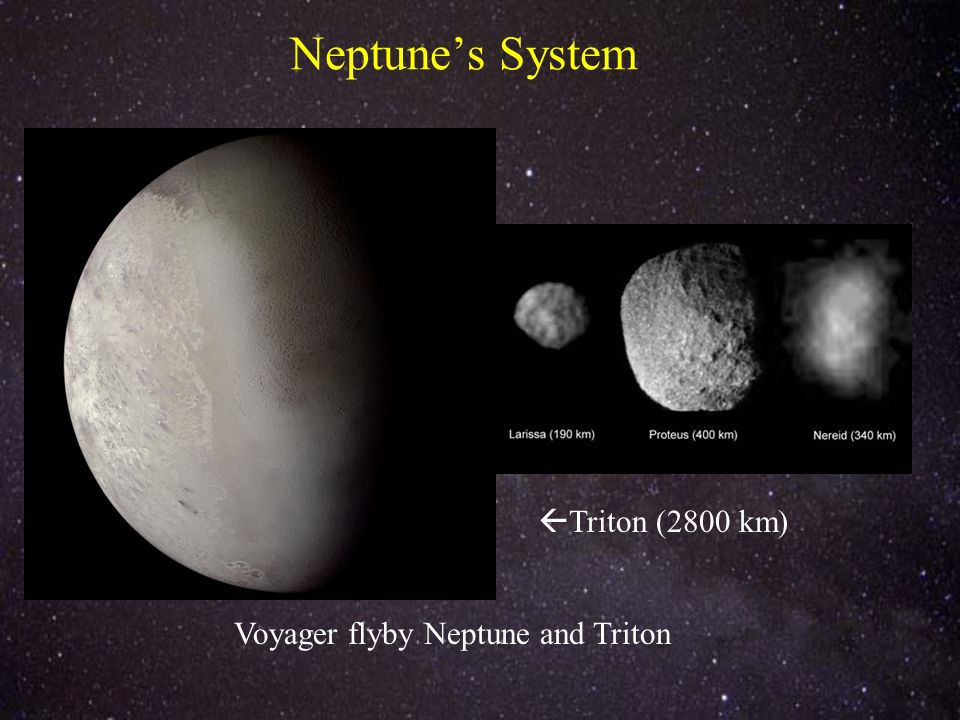 Neptunes System Voyager flyby Neptune and Triton Triton (2800 km)