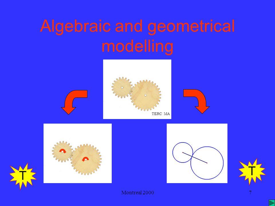 Montreal 20007 Algebraic and geometrical modelling T T TERC MA