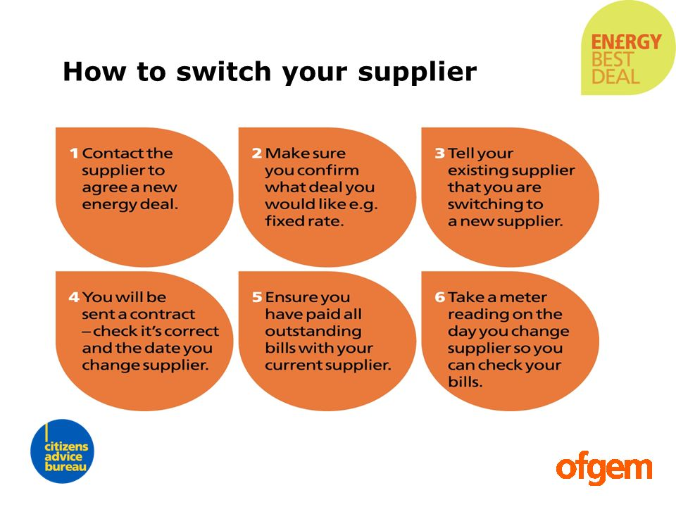 How to switch your supplier