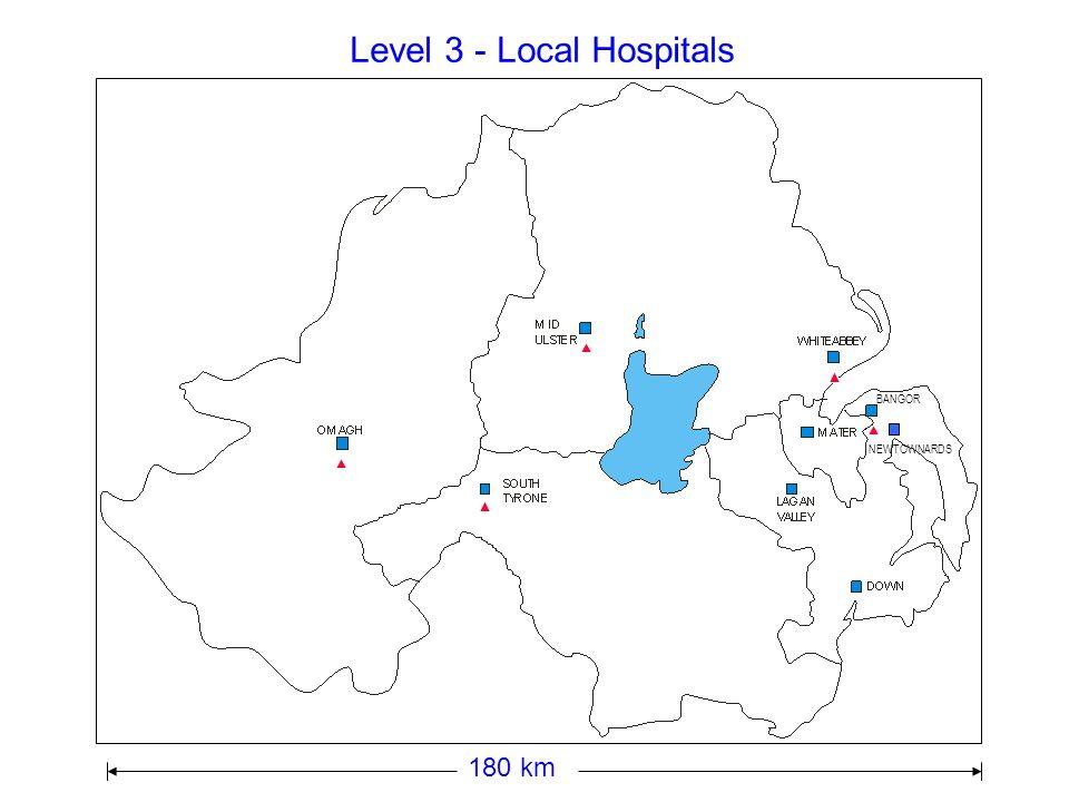 Level 4 - Acute Hospitals 180 km
