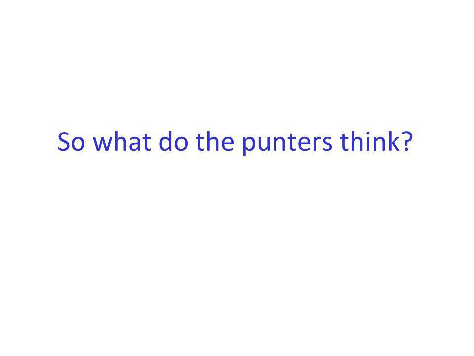 So what do the punters think?