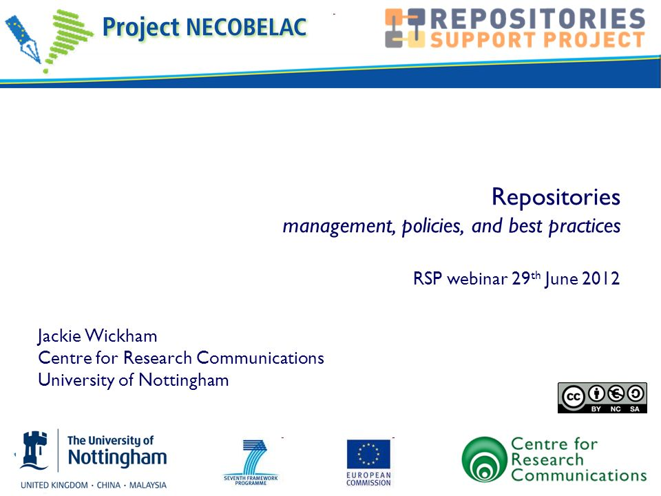 OA Repositories – the benefits for institutions © The University of Nottingham 2010