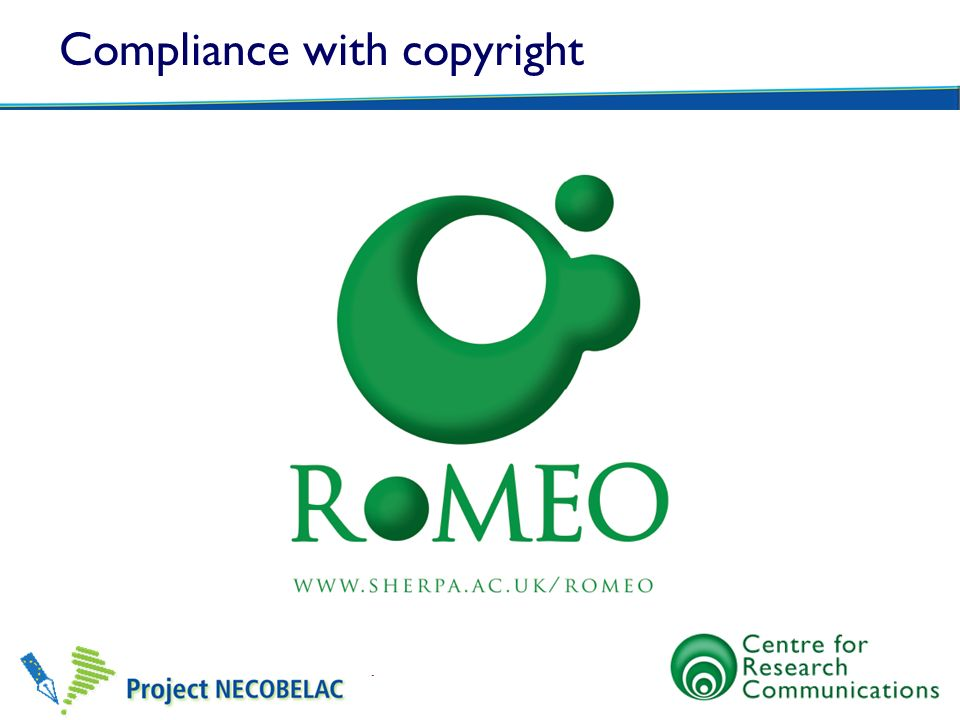 Compliance with copyright