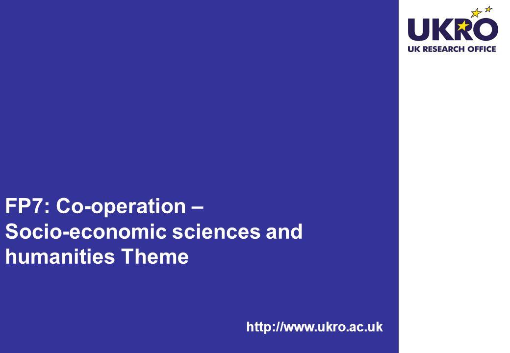 http://www.ukro.ac.uk FP7: Co-operation – Socio-economic sciences and humanities Theme