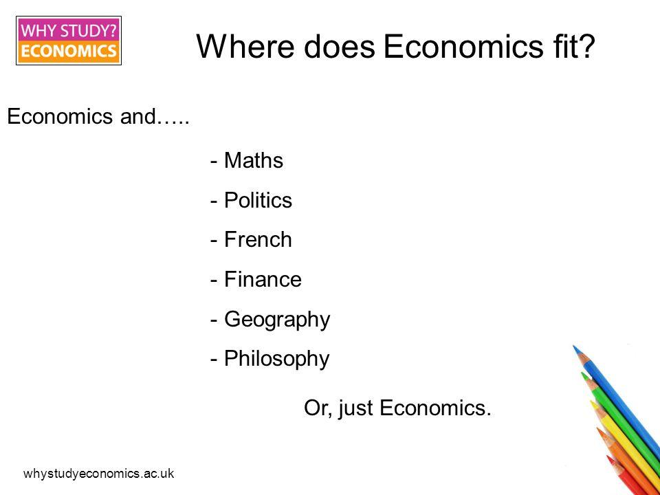 whystudyeconomics.ac.uk Where does Economics fit. Economics and…..