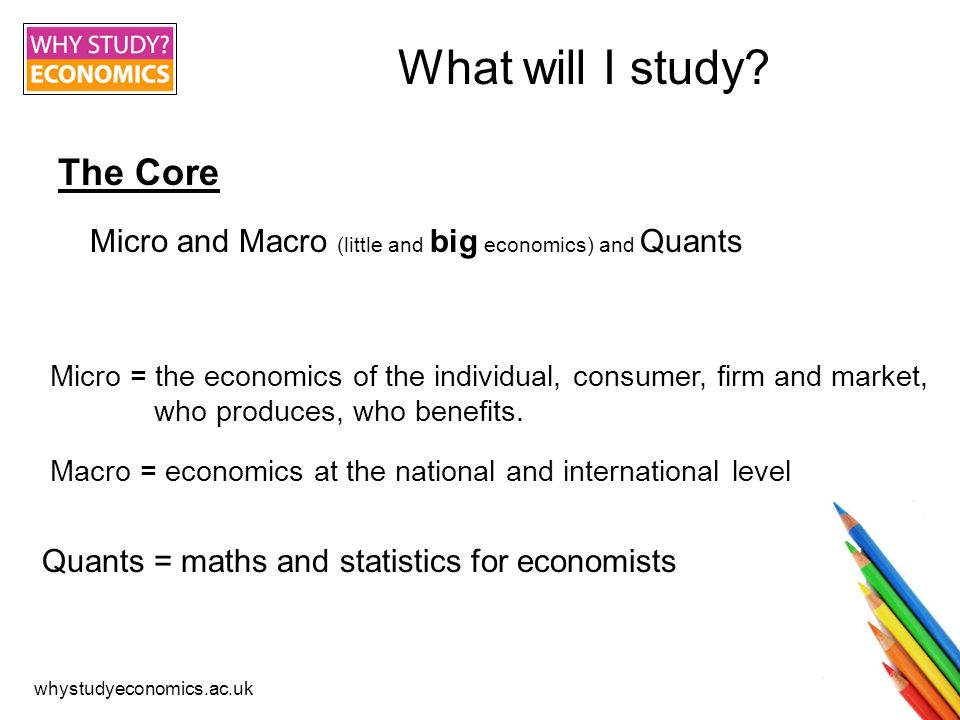 whystudyeconomics.ac.uk What will I study.