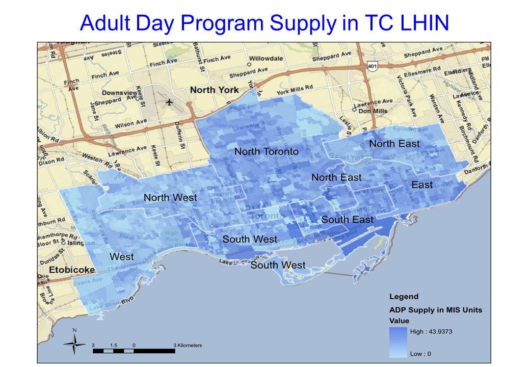 Adult Day Program Supply in TC LHIN