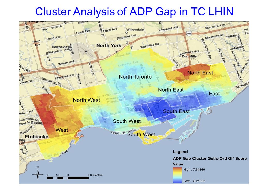 Cluster Analysis of ADP Gap in TC LHIN