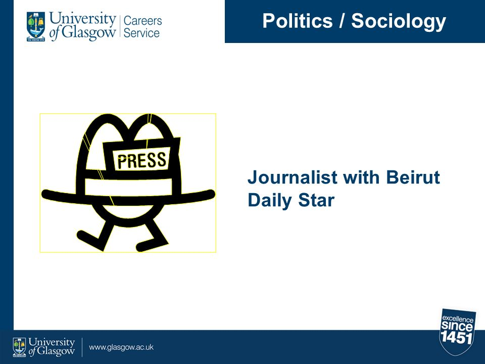 Journalist with Beirut Daily Star Politics / Sociology