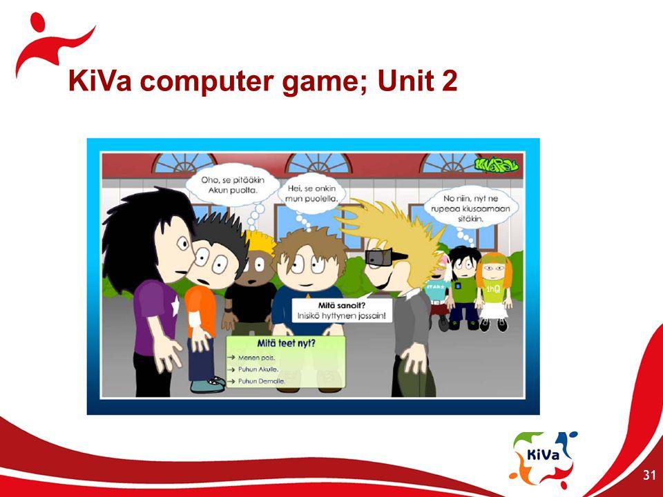 31 KiVa computer game; Unit 2
