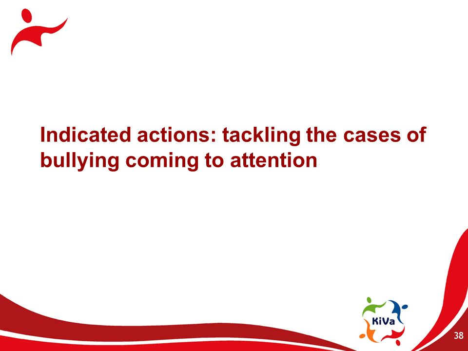 Indicated actions: tackling the cases of bullying coming to attention 38