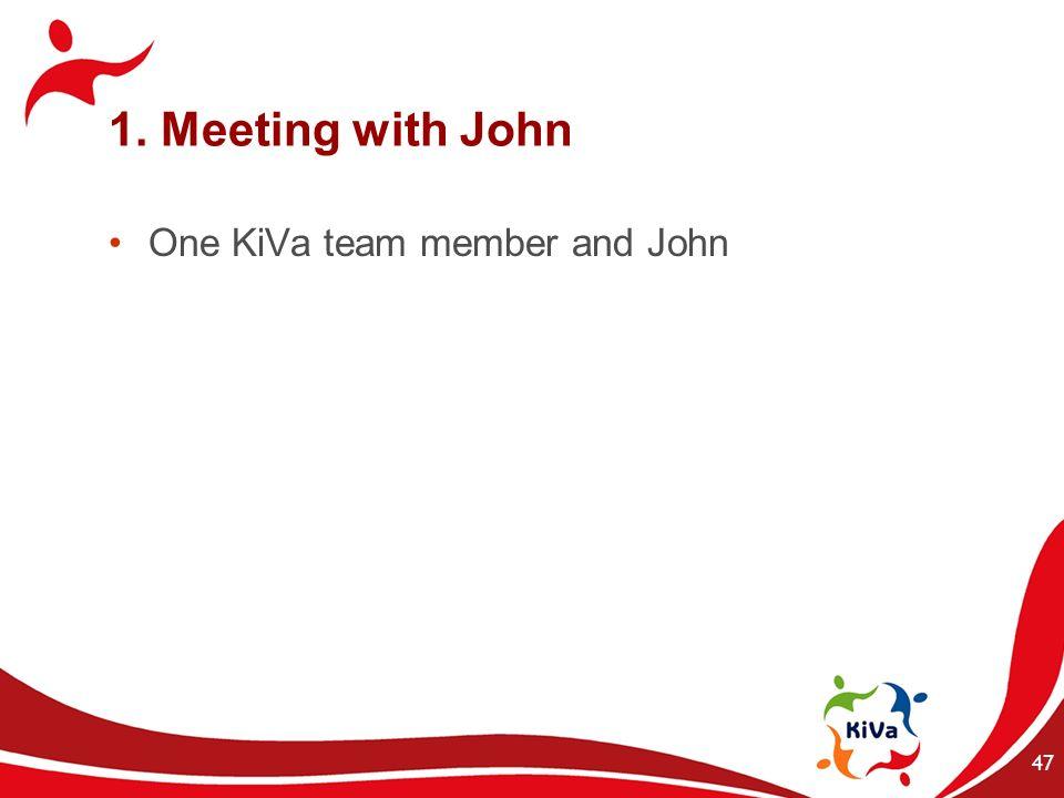 1. Meeting with John One KiVa team member and John 47