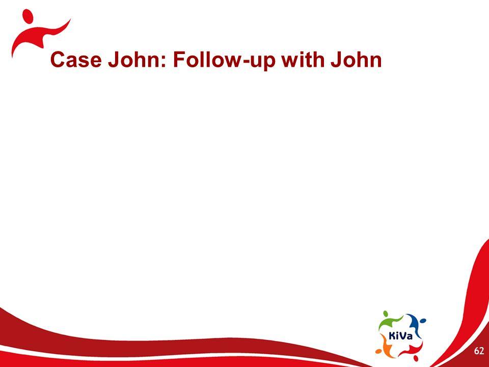 Case John: Follow-up with John 62