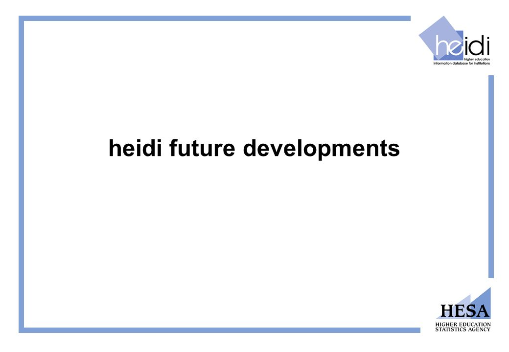 heidi future developments