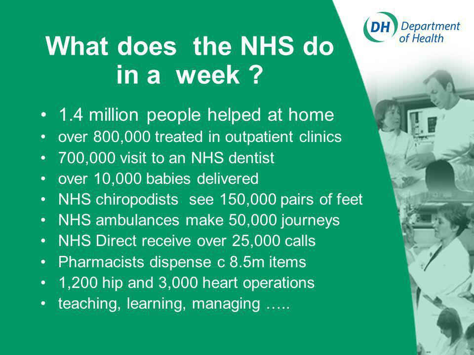 What does the NHS do in a week .