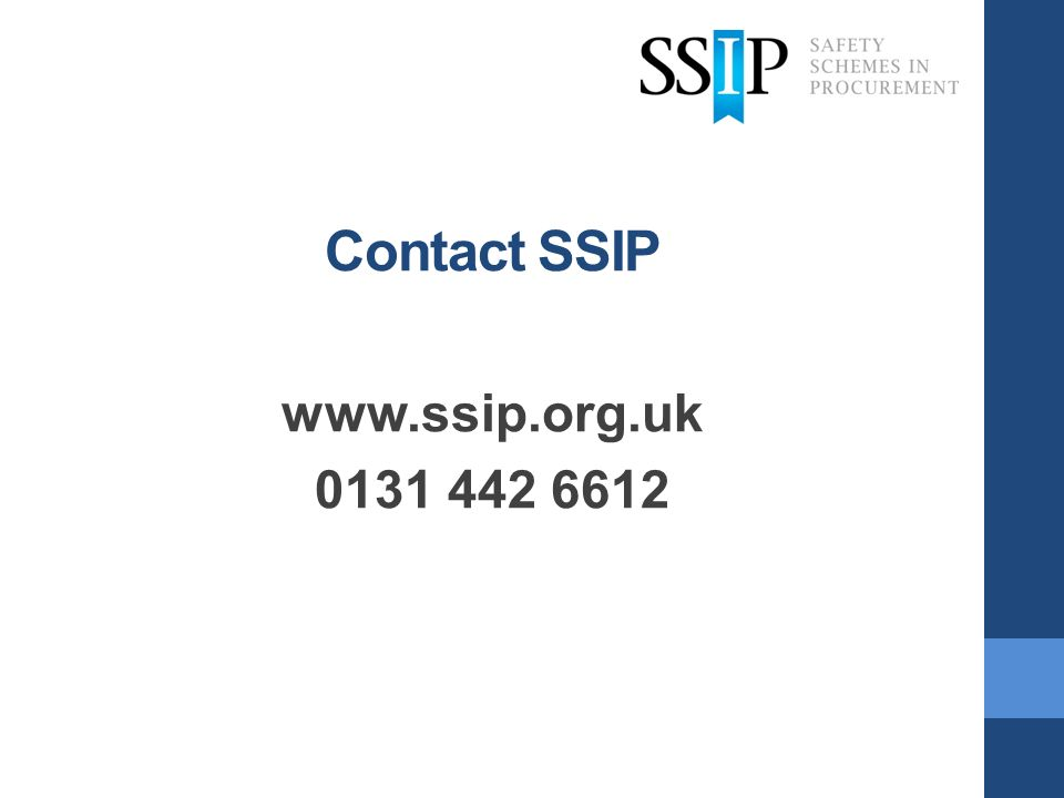Contact SSIP