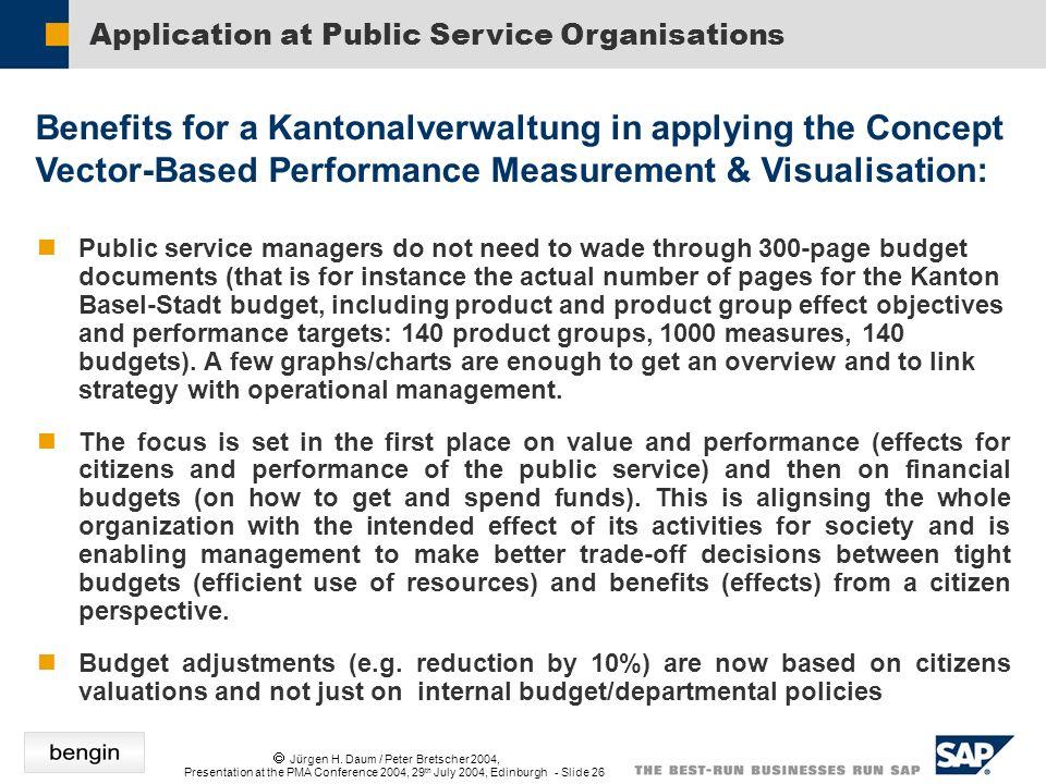 Jürgen H. Daum / Peter Bretscher 2004, Presentation at the PMA Conference 2004, 29 th July 2004, Edinburgh - Slide 26 Public service managers do not n