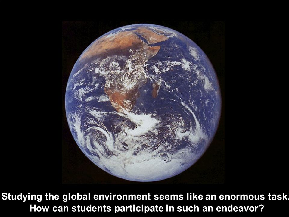 Studying the global environment seems like an enormous task.