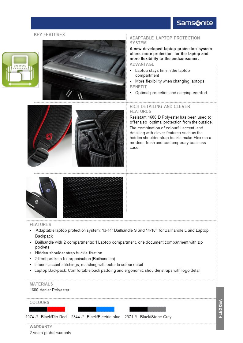 ADAPTABLE LAPTOP PROTECTION SYSTEM A new developed laptop protection system offers more protection for the laptop and more flexibility to the endconsumer.
