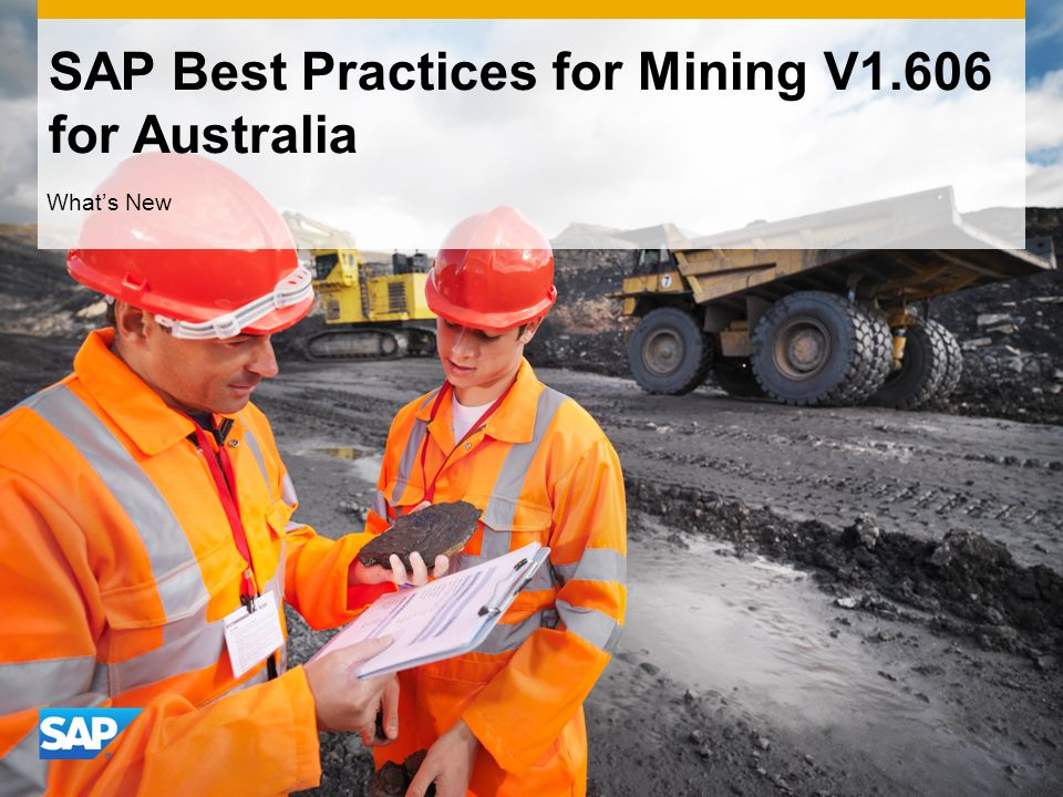 SAP Best Practices for Mining V1.606 for Australia Whats New