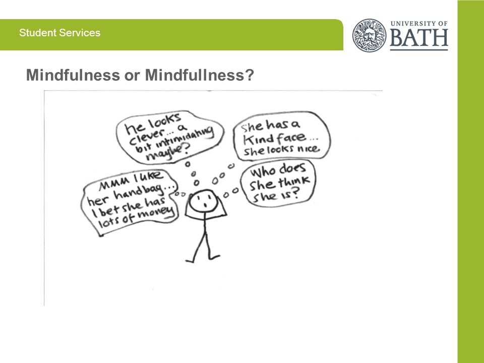 Student Services Mindfulness or Mindfullness?